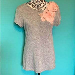 Chelsea & Violet Stretch T Shirt Rose Blouse L